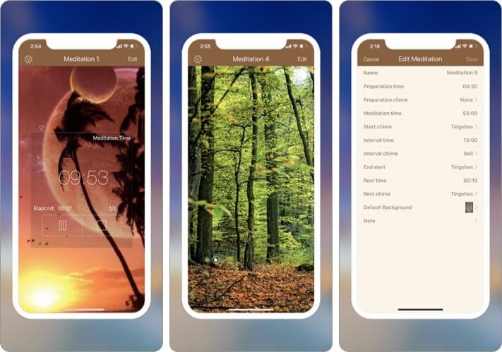 Pocket Meditation Timer iPhone and iPad App Screenshot