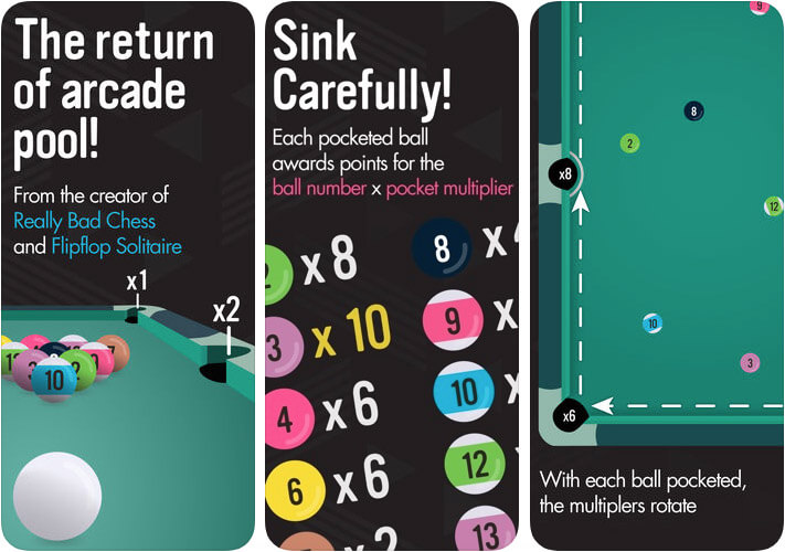 Pocket Run Pool Game App for iPhone and iPad Screenshot