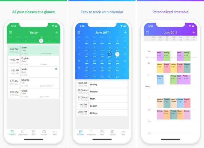 Pocket Schedule Planner iPhone and iPad App Screenshot