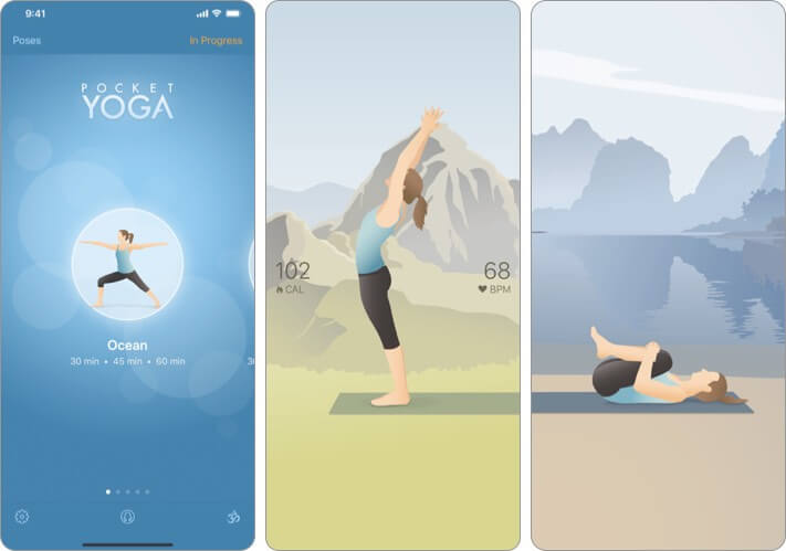 Pocket Yoga iPhone and iPad App Screenshot