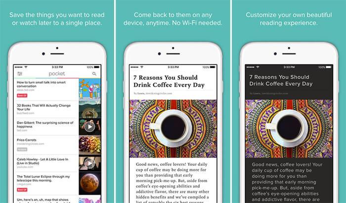 Pocket iPhone and iPad App Screenshot