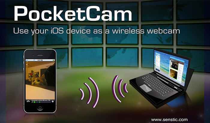 PocketCam by Senstic iPhone and iPad App Screenshot