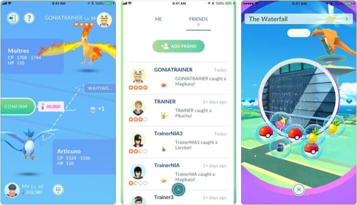 Pokemon GO iPhone and iPad Game Screenshot