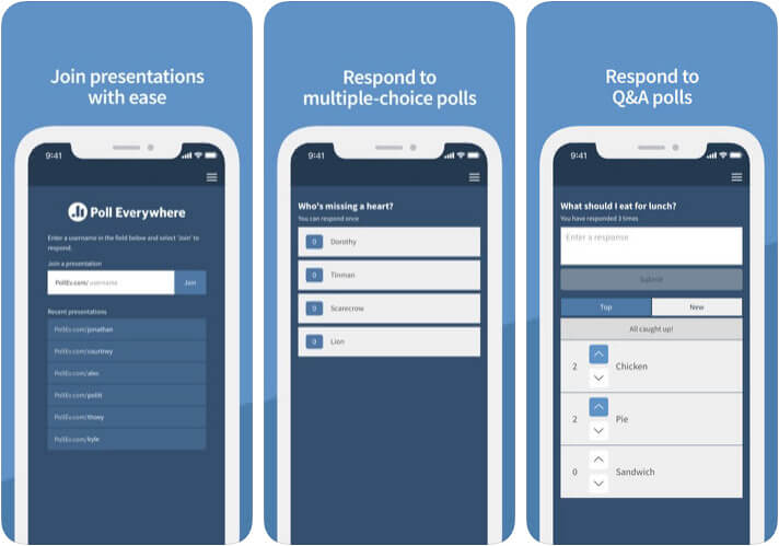 Poll Everywhere iPhone and iPad Voting App Screenshot