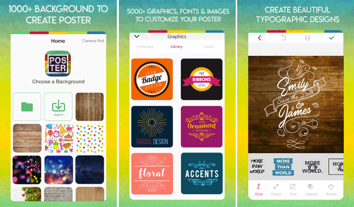 Poster Maker iPhone and iPad App Screenshot