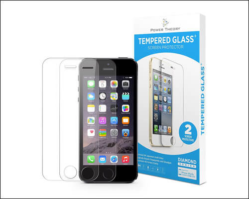 Power Theory iPhone SE Tempered Glass Screen Protector