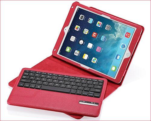 Poweradd iPad Air 2 Leather Keyboard Case