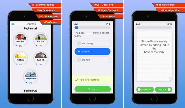 Practice English Grammar iPhone and iPad App Screenshot