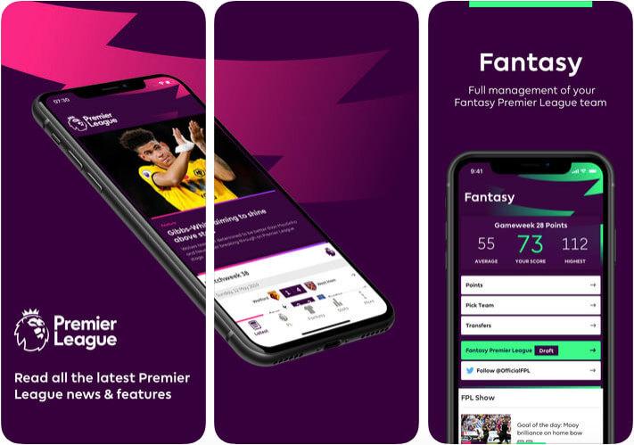 Premier League Official Football iPhone and iPad App Screenshot