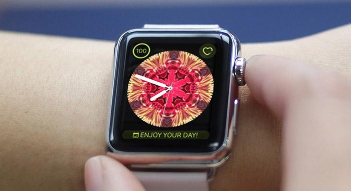 Press Digital Crown of Apple Watch