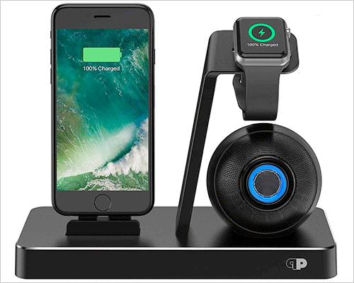 Press Play ONE iPhone Xs, Xs Max, and iPhone XR Docking Station with Speakers