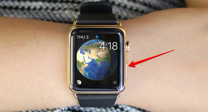 Press Side Button on Apple Watch
