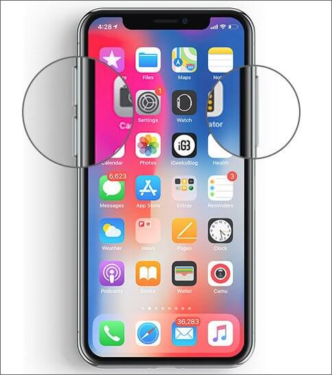 Press and hold Side button and Volume up button at once on iPhone