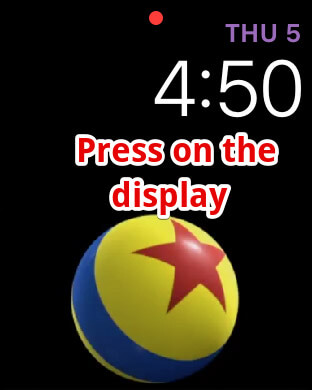 Press on the Apple Watch Display