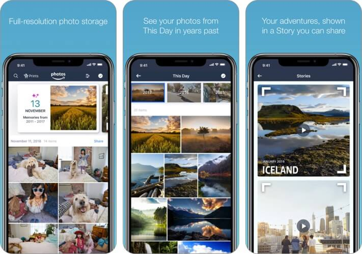 Prime Photos iPhone and iPad App Screenshot
