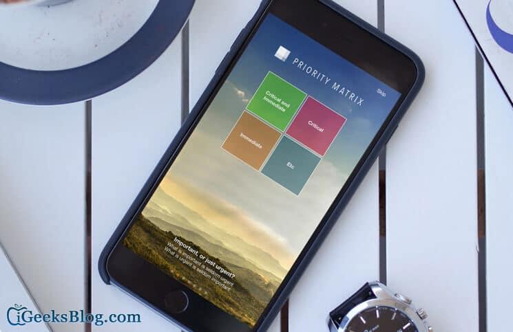 Priority Matrix iPhone App