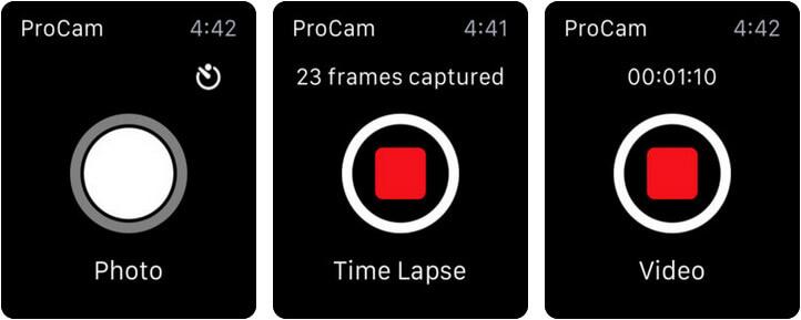 ProCam 6 Apple Watch Camera App Screenshot
