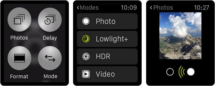 ProCamera Apple Watch App Screenshot