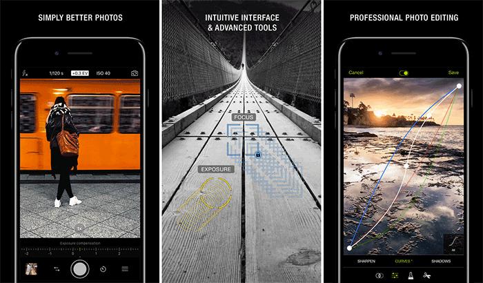Фотофильтры и эффекты ProCamera для iPhone и снимок экрана приложения