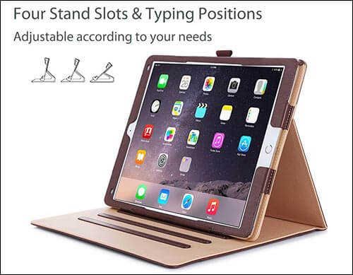 ProCase Leather Stand Folio Case for iPad Pro 9.7 Inch