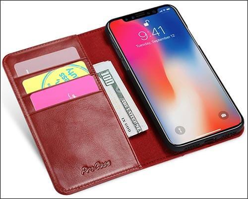 ProCase iPhone X Wallet Case