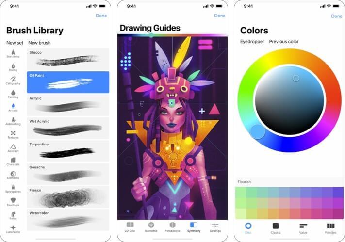 Procreate Pocket Graphic Desing iPhone and iPad App Screenshot