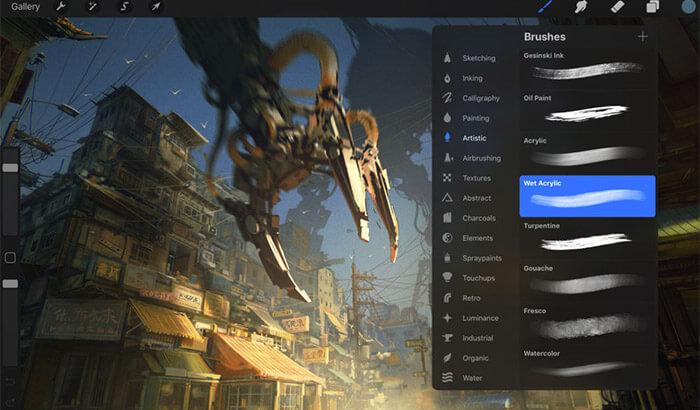 Procreate iPad Pro App Screenshot