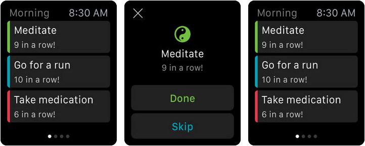 Productive Habit Tracker Apple Watch Reminder App Screenshot