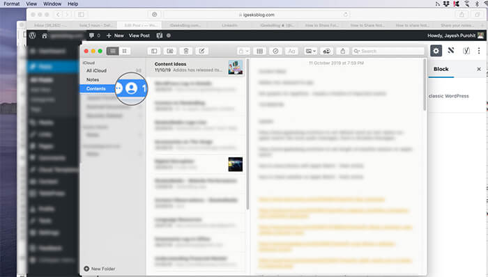 Profile icon on Shared Notes App Folders on Mac