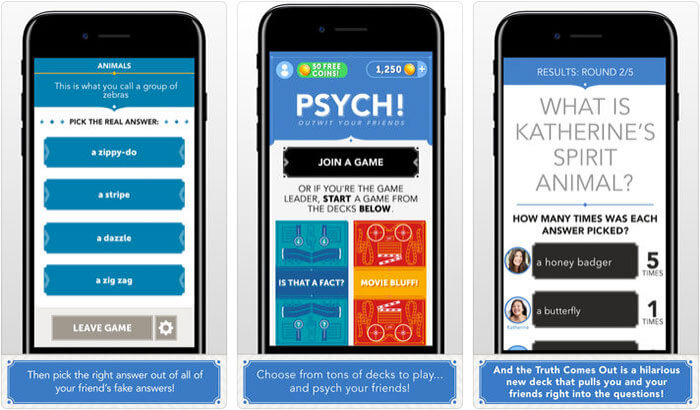 Psych iPhone and iPad Family Game Screenshot