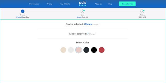 Puls iPhone Repair Service on Demand