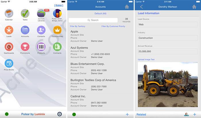 Pulsar for Salesforce iPad App Screenshot