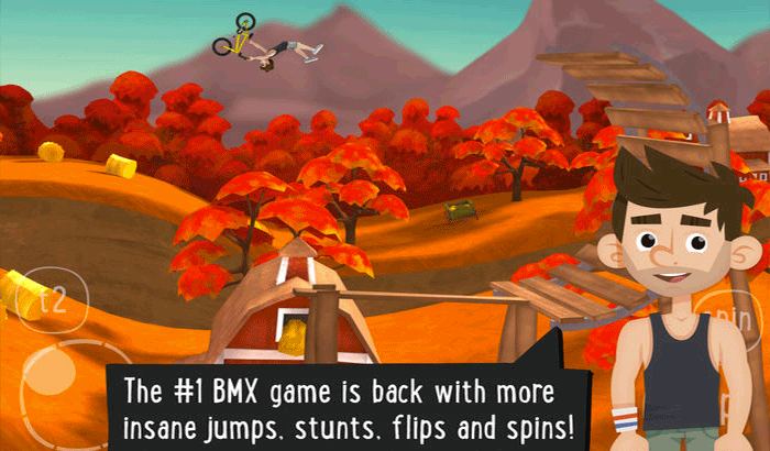 Pumped BMX 2 iPhone and iPad Game Screenshot