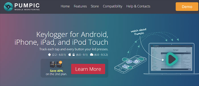 Pumpic Keylogger for iPhone and iPad
