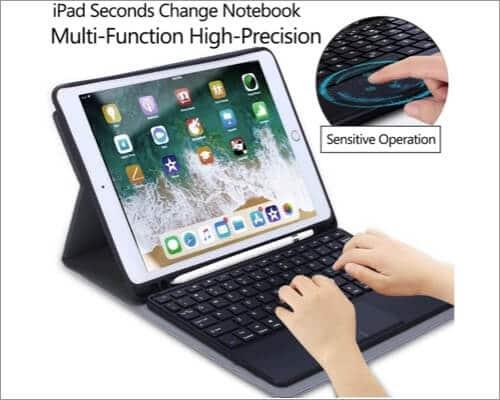 QHOHQ iPad Trackpad Keyboard Case