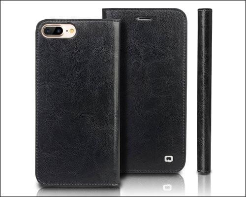 QIALINO Flip Case for iPhone 8 Plus