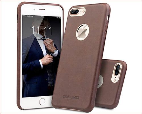 QIALINO iPhone 8 Plus Leather Case