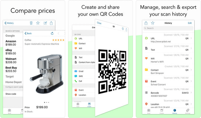 QR Code & Barcode Scanner iPhone and iPad App Screenshot