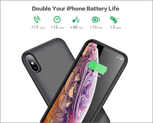 QTshine iPhone Xs Max Battery Case