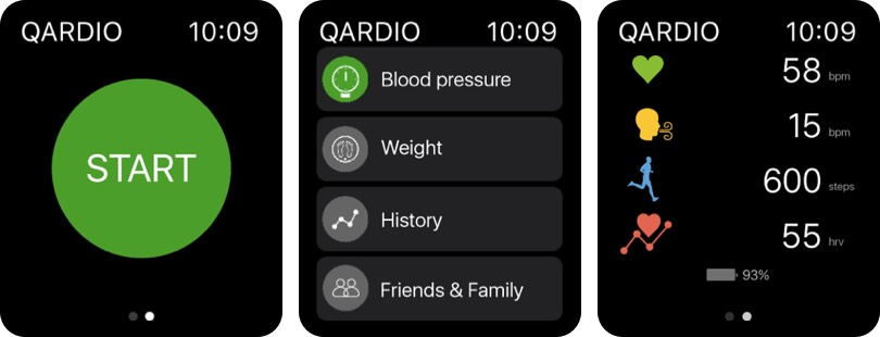 Qardio Heart Health Apple Watch App Screenshot