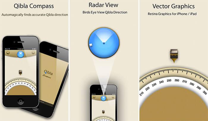 Qibla Compass iPhone and iPad App Screenshot