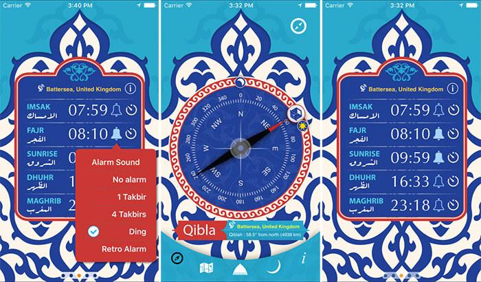 Qibla & Prayer Times iPhone and iPad App Screenshot