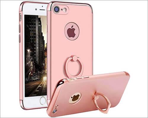 Qissy iPhone 7 Slim Ring Holder Case