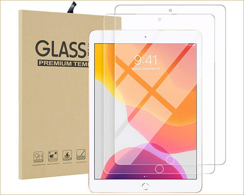 Qoosea Tempered Glass Screen Protector for iPad 10.2-inch