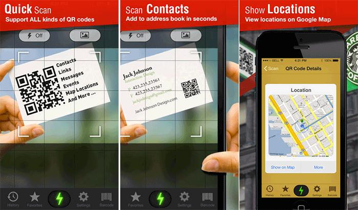 Quick Scan – QR Code Reader iPhone App Screenshot
