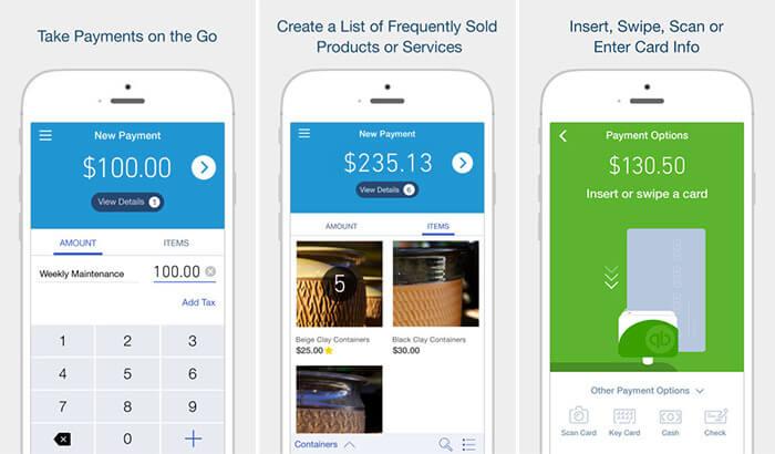 QuickBooks GoPayment iPhone and iPad POS App Screenshot