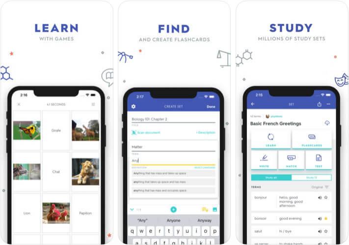 Quizlet iPhone and iPad App Screenshot
