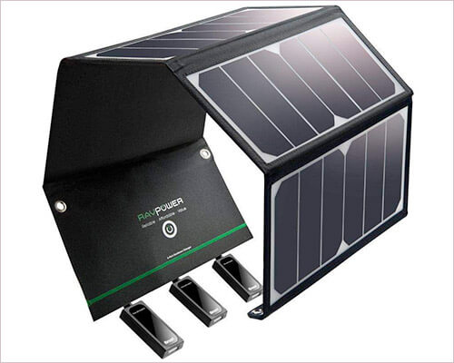 RAVPower Solar Charger for iPhone Xs Max, Xs, and iPhone XR