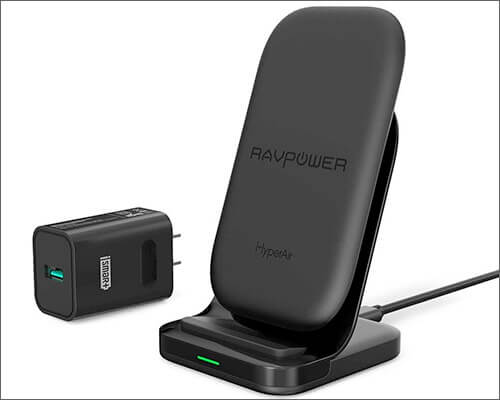 RAVPower Wireless Charging Stand for iPhone Xs Max, Xs, and iPhone XR