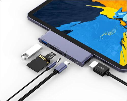 RAYROW USB C Multiport Hub for 2018 iPad Pro